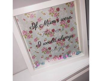 Shadow box frame for mum