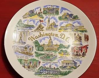Washington D.C. souvenir plate
