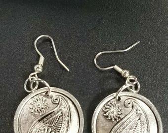 Silver Paisley earrings