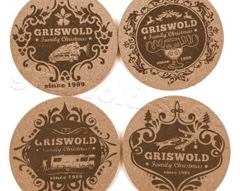 Griswold Family Corc Coaster 4 Piece Collection (all 4 Motives included)