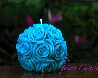Rose Candle/Birthday Party Favors/Candle Favor/Milestone Birthday Party Favor/Birthday favor
