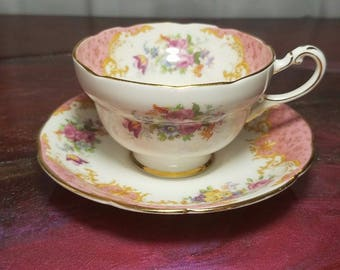 Paragon Rockingham Teacup and Saucer in Mint Condition