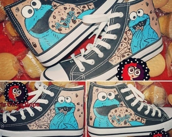 slippers type Converse handpainted with much detail much love and in any detail