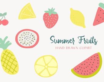 Summer Fruits Hand Drawn Clip-art