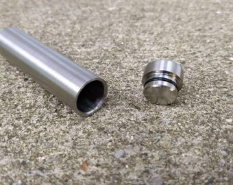 10% Off Use Code JULY4TH - Titanium Stash Can For Chillum