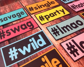 Hashtag photo booth props set of 12