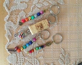 Chakra bead keychain