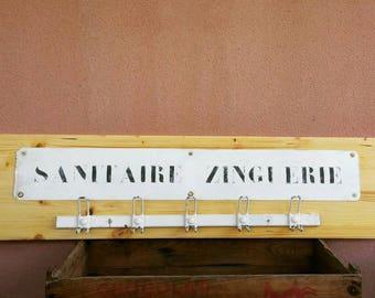 Industrial coat hanger. Vintage factory Studio loft
