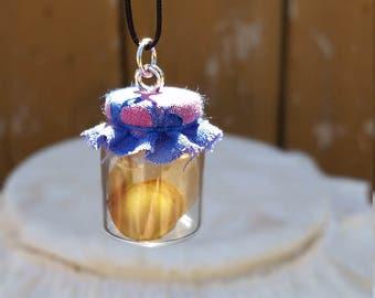 Mini Purple Kombucha Brewing Jar Necklace