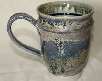 Metallic Grey Blue Mug