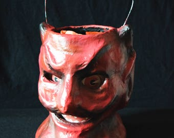 Vintage Halloween Devil Lantern
