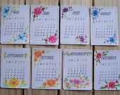 Month Calendar Cards