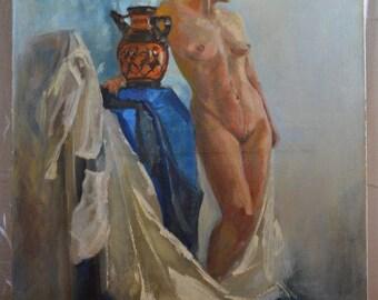 "Elegant Greece - Original oil painting on Canvas 39.5""x34"""