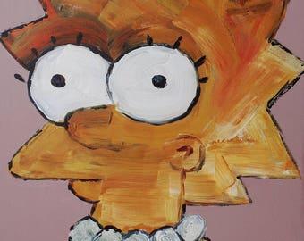 Lisa Simpson Oil Painting