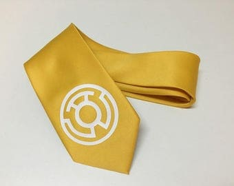 Yellow  Lantern Necktie