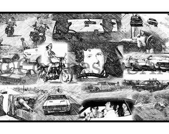 Vanishing Point Collage Original Art Print