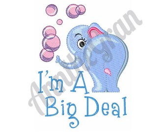 Cute Elephant  - Machine Embroidery Design
