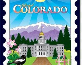 Mini Postage Stamp Panel -  Colorado