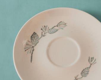 Vintage Teacup Saucer // Marcrest Stetson // Blue Spruce Pinecone