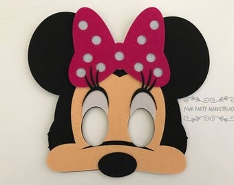 Minnie Mouse Masks, Mickey Mouse Clubhouse Party Favors, Minnie Mouse Party Favors,Minnie Mouse Banner, Minnie Mouse Party, Minnie Mouse
