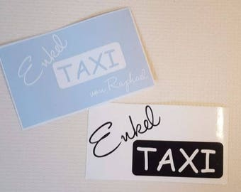 Bumper sticker - grandson taxi