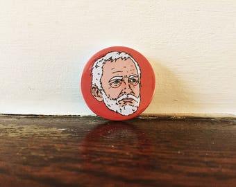Jeremy Corbyn Pin Button Badge