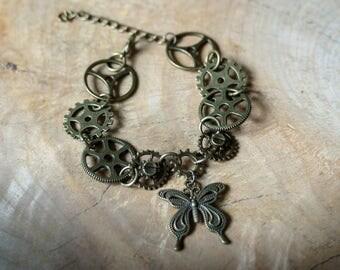 Steampunk Butterfly Bracelet, Steampunk Bracelet, Steampunk Jewellery