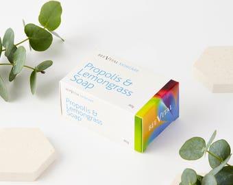 Propolis and Lemongrass Soap - Natural Soap - Handmade soap - Cleansing Soap - Propolis soap