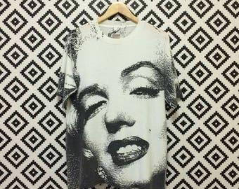 Rare!! Vintage Marilyn Monroe Overprint Tshirt Size Large