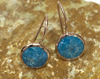 Handmade Silver Earrings With Aquamarine