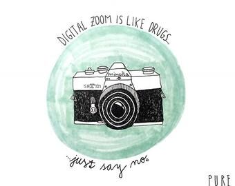 Digital zoom is like drugs...