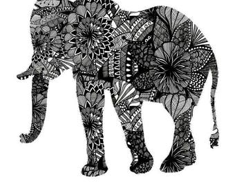 Pattern Elephant- Downloadable/ Printable File