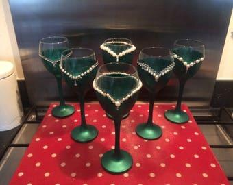 Decorative gift glasses