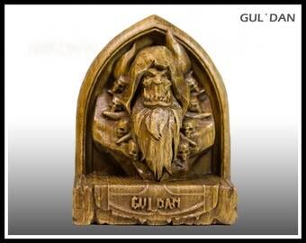Wooden, Guldan, hearthstone, warcraft, wow, world of warcraft, wow hero, wow statue, wow figurine, warlock
