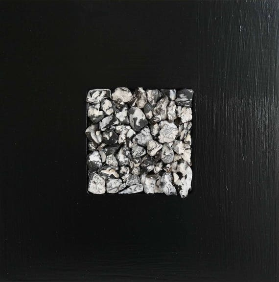 Flotsam and Jetsam collage flints black small