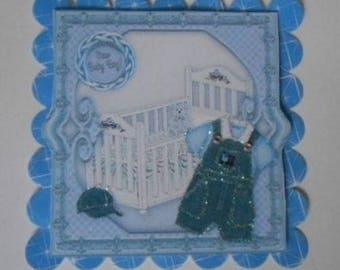Pk2 Baby Boy Topper Embellishments for cards and crafts