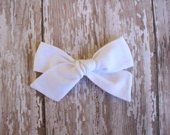 White Mila Bow