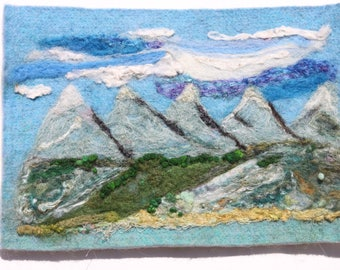 Mountain Range Fibre Art