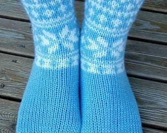 Knitted wool socks