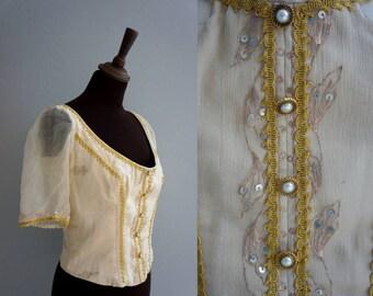 Princess Ballet Bodice / Ballet Top / Vintage Princess Corset