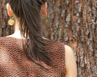 orange black dress, BIO Jersey, GOTS-certified, fair fashion, organic cotton