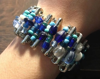 Shades of Blue Pin Bracelet