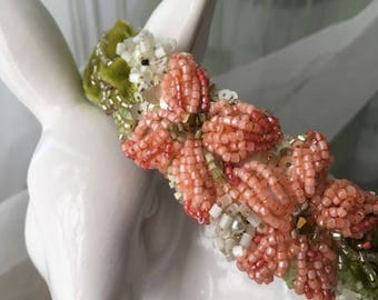 Coral Spring Flower Headband