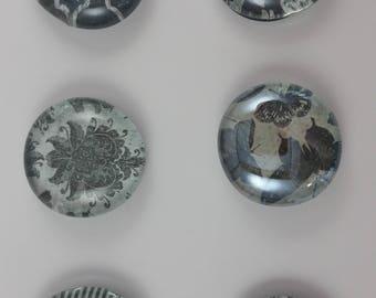 Black & White Whimsical Magnets