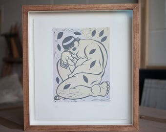 Endymion, Linocut Print by Propeller Press