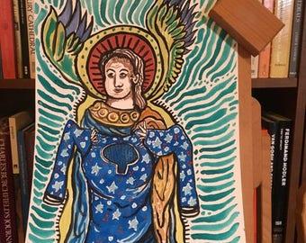Attending Angel Watercolor