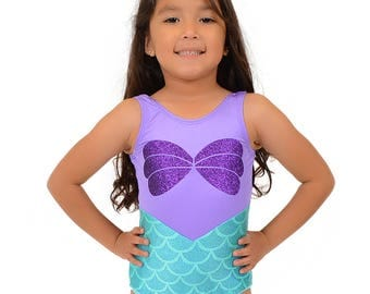 Mermaid Inspired Leotard Ready to Ship FREE USA SHIPPING