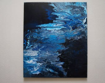 """Abstract table """"By the river"""" (40 x 50)"""
