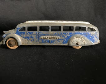 1930's Vintage TootsieToys Greyhound Bus (#1045) Die-Cast Made in America