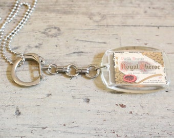 Vintage French Keychain Necklace